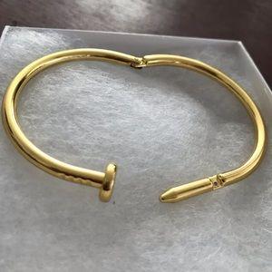 Jewelry - Nail Cuff Bracelet - Gold